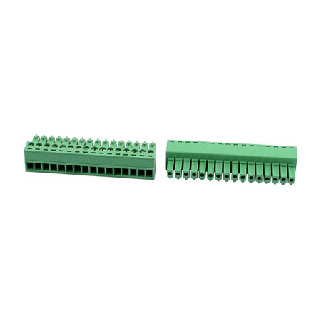 5Pcs 300V KF2EDGK 3 5mm Pitch 16-Pin PCB Screw Terminal Block