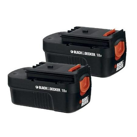 Black and Decker HPB18 Replacement (2 Pack) 18V Battery # (Black Decker 18v Batteries)