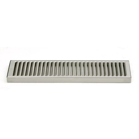 ACU Precision Sheet Metal 0100-15 Surface Mount Drip Tray, No Drain, Stainless Steel, # 4 Brushed Finish, 5