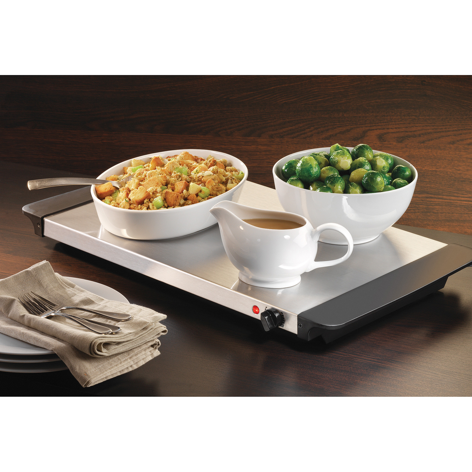 Nostalgia Electrics Living by Nostalgia 3-Station Buffet Server with Warming Tray, BCD992