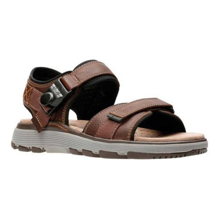 b990c1ad58b2 Clarks - Clarks Un Trek Part Dark Tan Men s Casual Strap Sandals 31860  Leather - Walmart.com