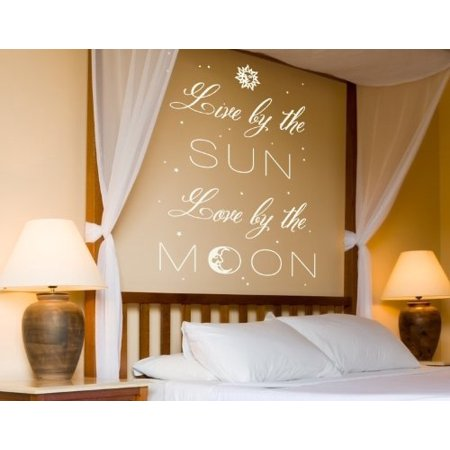 Live By The Sun Love By The Moon Wall Decal Wall Decal Sticker