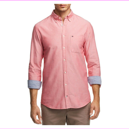 Tommy Hilfiger Engineered Oxford Regular Fit Button-Down Shirt, Size Xl, MSRP $9 Loose Fit Oxford