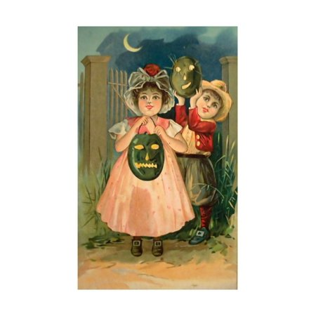 Apple Jacks Farm Halloween (Halloween Black Jack O Lantern Print Wall Art By Vintage Apple)