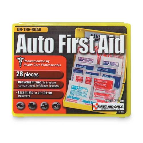 FIRST AID ONLY FAO-310 First Aid Kit, Bulk, Yellow, 28 Pcs
