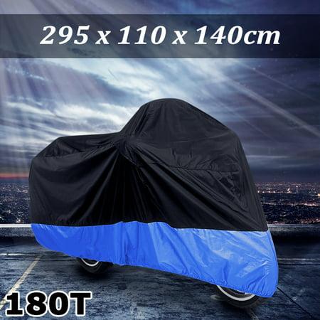 XXXL Black+Blue Motorcycle Cover For Harley Davidson Road Glide Ultra FLTRU FLTR Touring