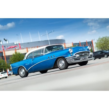 LAMINATED POSTER 1955 Car Blue Classic Old Vintage Special Buick Poster Print 24 x 36