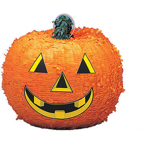 Pumpkin Halloween Pinata, 12.5 x 11 in, 1ct