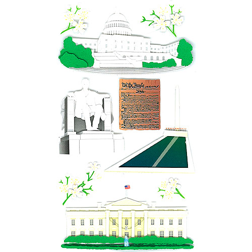 Jolee's Boutique Dimensional Stickers, Washington Sights