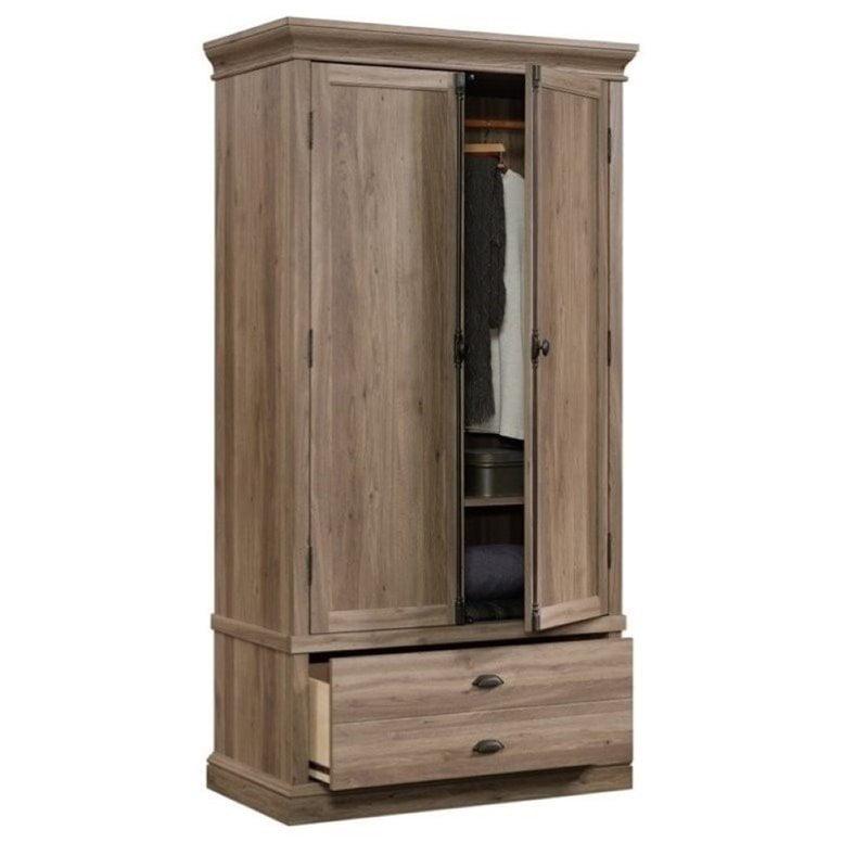 Pemberly Row Bedroom Armoire in Salt Oak