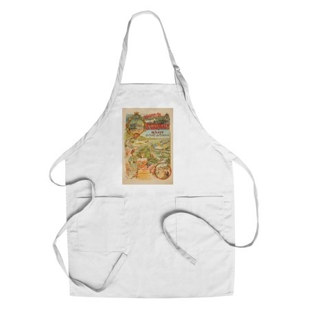 St Germain Vintage Poster (artist: Tamagno) France c. 1902 (Cotton/Polyester Chef's Apron) - St Germain Carafe