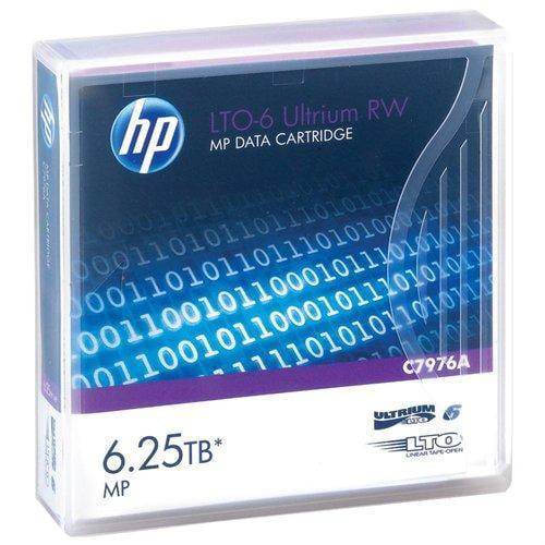 Hewlett Packard C7976A Tape Lto Ultrium-6 2.5tb/6.25tb Metal Particle [mp]