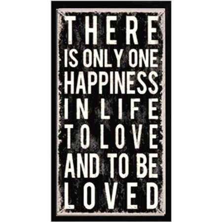 Buyartforless Professionally Framed There Is Only Happiness By Louise Carey Art Print Poster  30 X 12