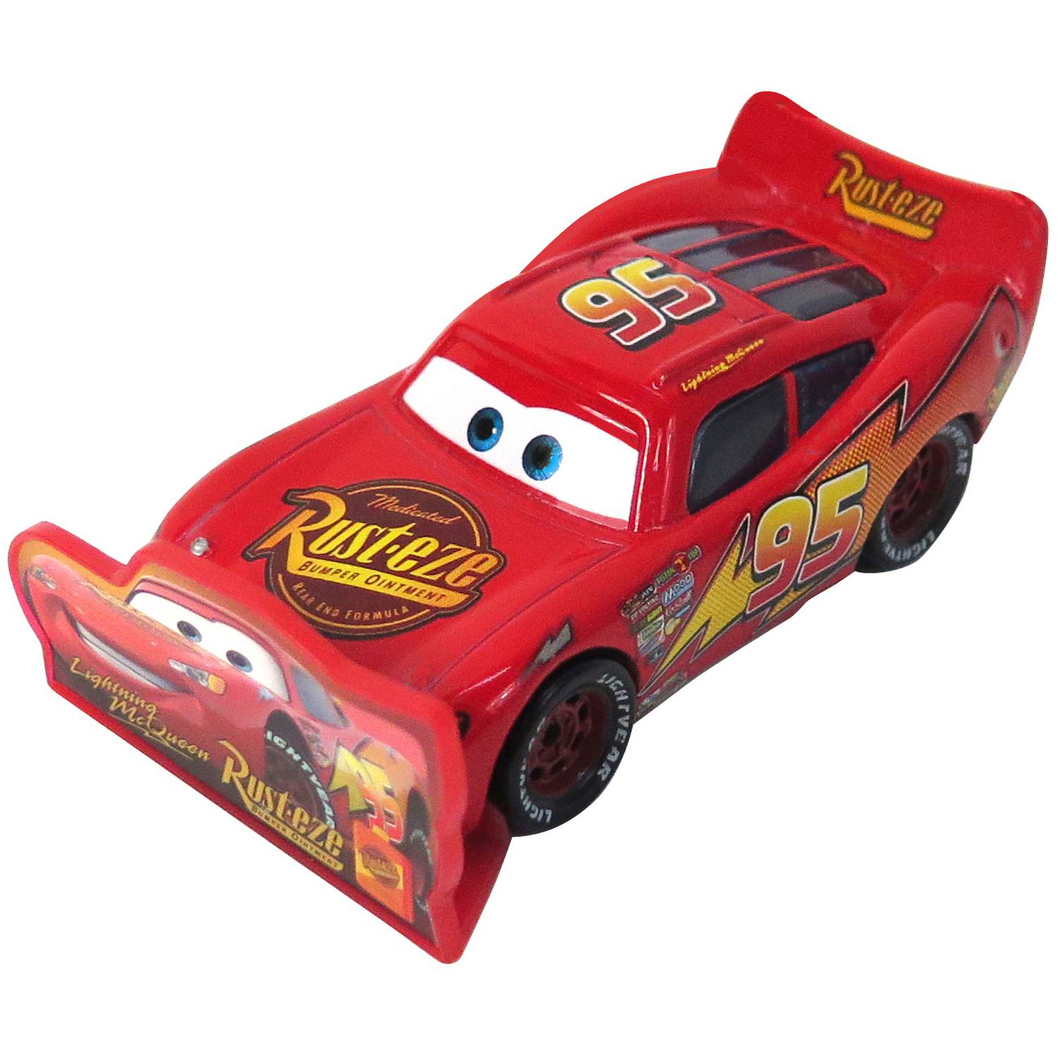 Disney Cars Die-Cast Figure, Lightning McQueen with Sign