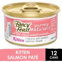 (12 Pack) Fancy Feast Grain Free Gourmet Naturals Kitten Pate Wet Cat Food, 3 oz. Cans