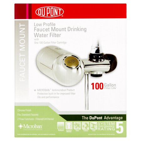 Dupont Deluxe Horizontal Faucet Mount Filtration System  Chrome