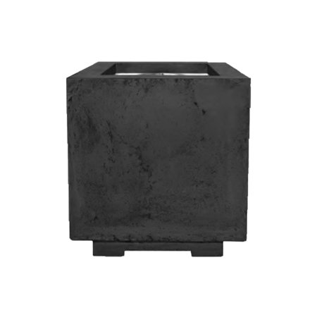 - Prism Hardscapes Scatola Concrete Gas Fire Pit, Natural Gas, Ebony, 20