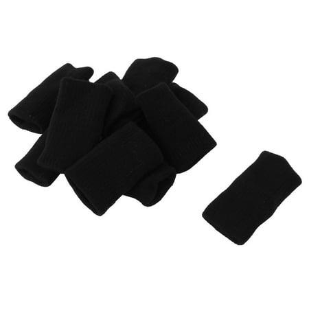 Unique Bargains 10Pcs Elastic Neoprene Finger Sleeves Protector Finger Support Guard for Basketball