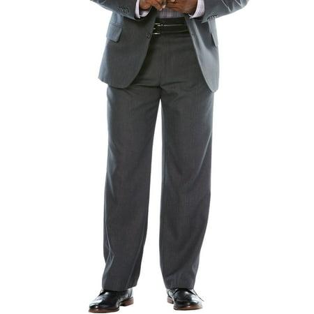 Ks Signature Men's Big & Tall Easy Movement Plain Front Expandable Suit Separate Dress Pants
