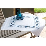 "Cheerful Cats Tablecloth Stamped Embroidery Kit-32""X32"""