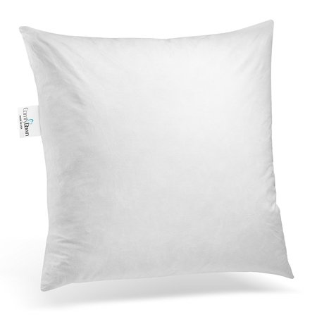 Down Square Pillow (ComfyDown 95% Feather 5% Down, 25 X 25 Square Decorative Pillow Insert, Sham Stuffer - MADE IN)