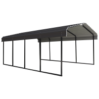 Arrow 12' Wide Galvanized Steel Metal Carport, Multiple Sizes and Colors