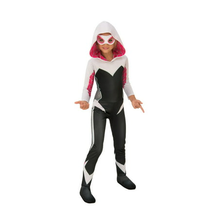 Black Pug Spider Costume (Halloween Marvel Rising: Secret Warriors Deluxe Spider Gwen/Ghost Spider Child)