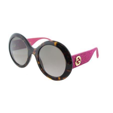 Gucci Round Glitter Pink Sunglasses ()