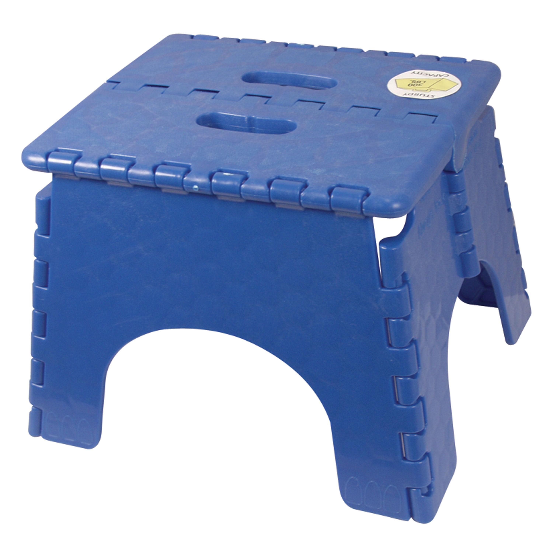 B Amp R Plastics 101 6b Blue E Z Foldz Step Stool 9 Quot Blue