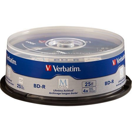 Verbatim Blu Ray Recordable Media   Bd R   4X   25 Gb   25 Pack Spindle   120Mm