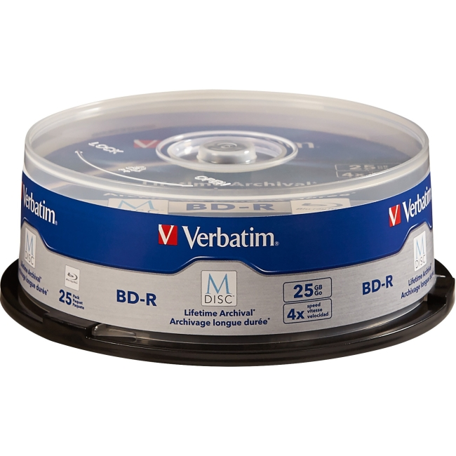 Verbatim Blu-ray Recordable Media - BD-R - 4x - 25 GB - 25 Pack Spindle - 120mm