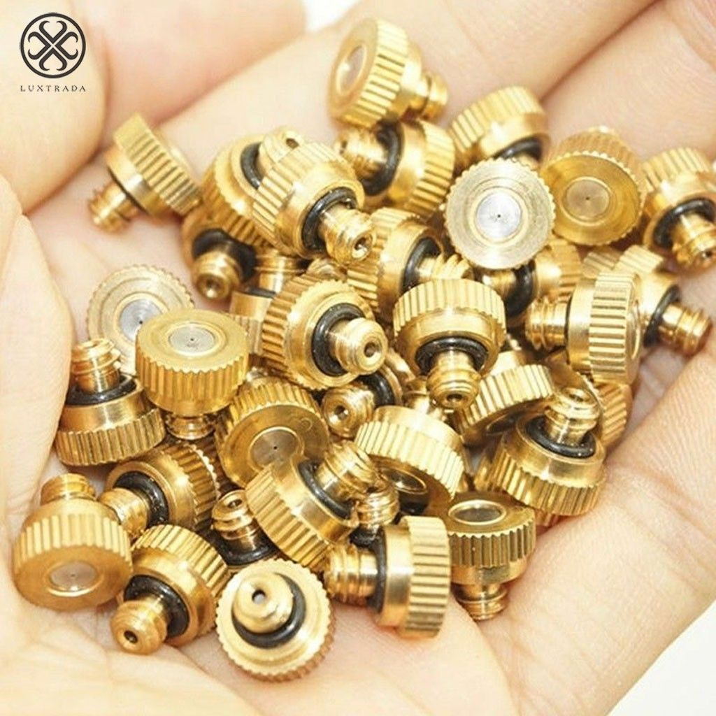 """20X Brass Misting Nozzles Mister Sprinkle For Cooling System 0.016/"""" 10//24 B5"""
