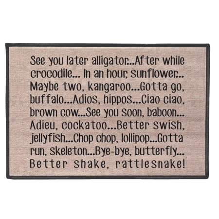 - See You Later Alligator Doormat - 100% Olefin Welcome Rug