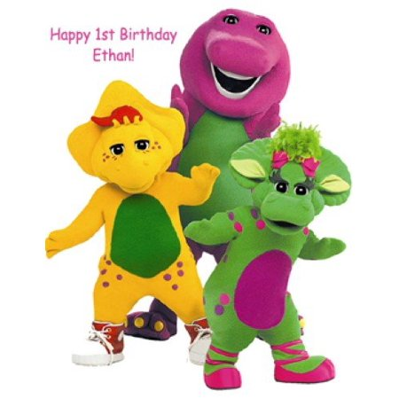 1/4 Sheet Barney Edible Frosting Cake - Barney Birthday