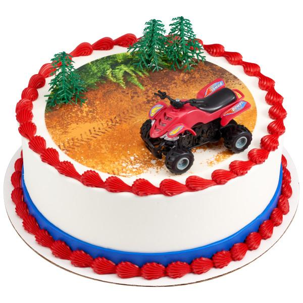 Four Wheel Extreme Sports ATV Cake Topper Off Road Birthday Keepsake LT1329