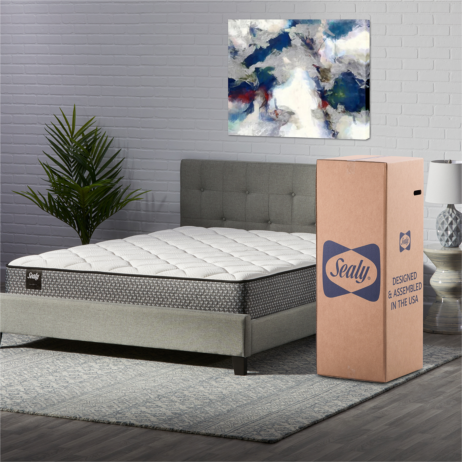 """Sealy Response Essentials 10"""" Encased Coil Innerspring Mattress in"""