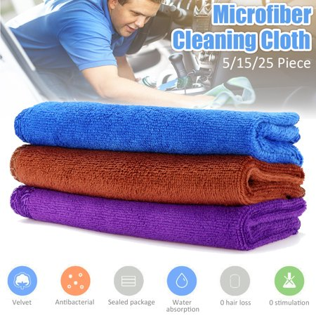 5pcs 12x12 inch Micro Fiber Cleaning Cloths Green Auto Car Care Detailing Microfiber Auto Duster Towel Cleaning Towels & Wipes Cleaning Supplies