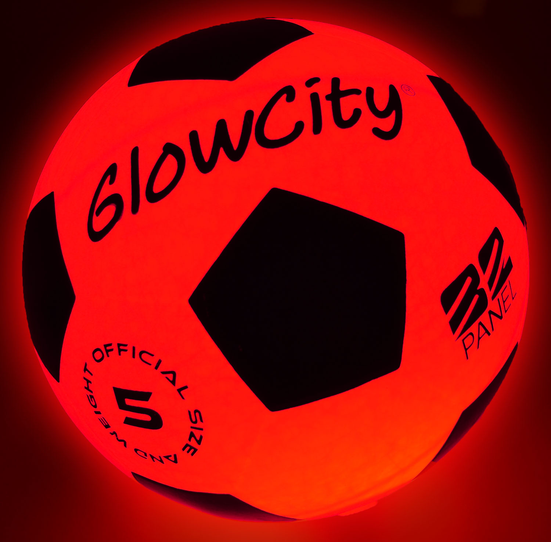 GlowCity Light Up LED Soccer Ball Blazing Red Edition by GlowCity