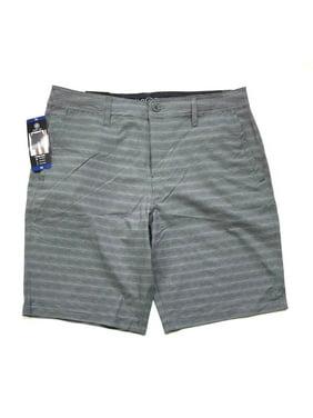 Hang Ten Mens' Hybrid Short 4-Way Stretch, Gray Stripes , Size 36 - NEW