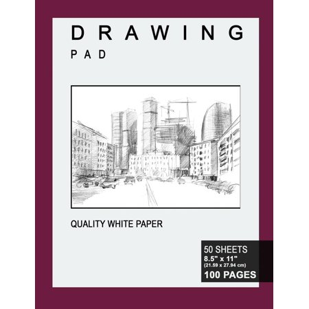 Drawing Pad: 8.5 X 11, Personalized Drawing Sketchbook, 100 Pages, Durable Soft Cover, Premium Studio-[professional Binding] (Paperback)