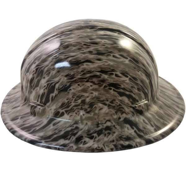 Hydro Dipped GLOW IN THE DARK Hard Hats Full Brim Style with Ratchet Suspensions