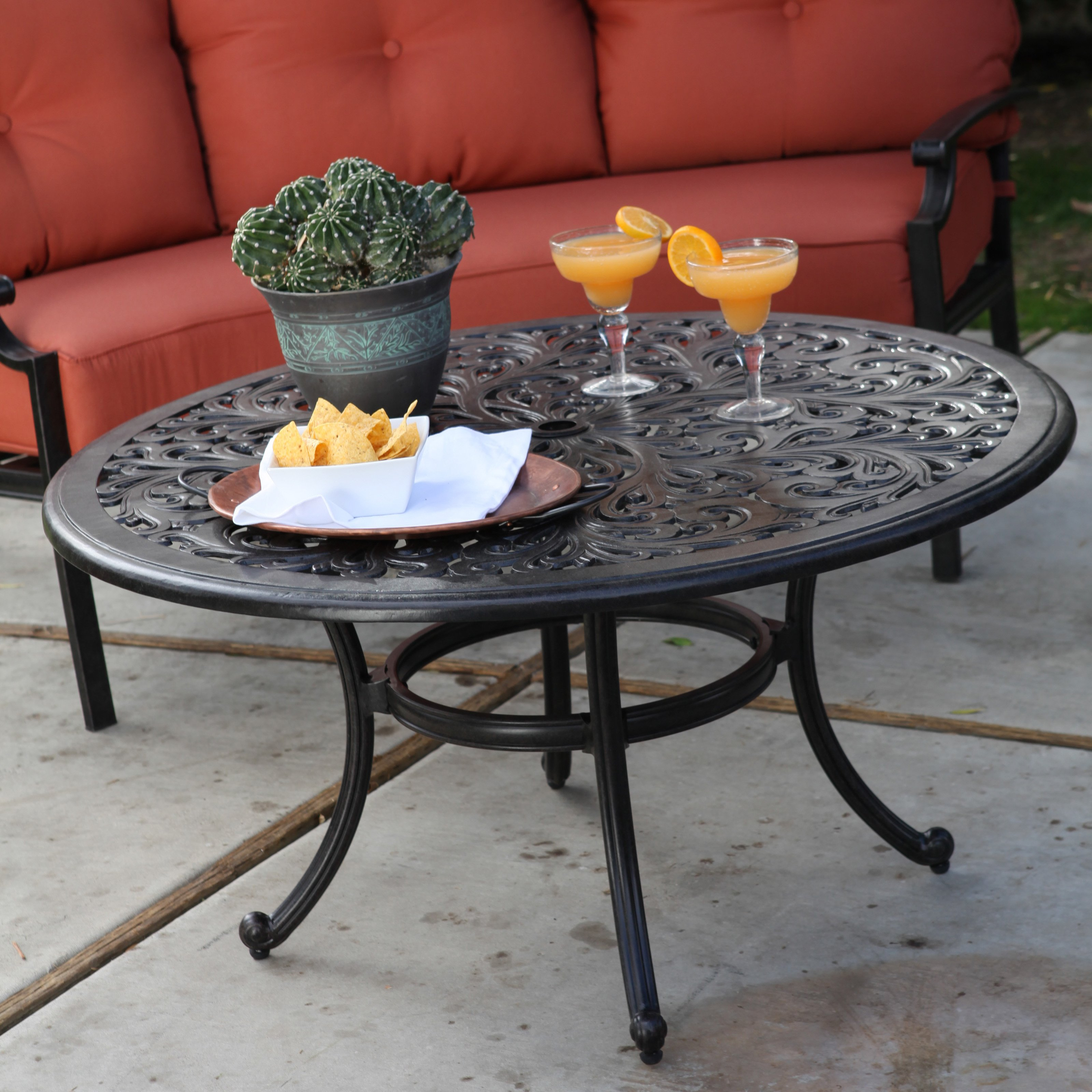 Alfresco Belham Living San Miguel Cast Aluminum 42 in. Ro...