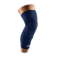 McDavid Hex Knee Pads Compression Leg Sleeve for Basketball, Volleyball, Weightlifting, and More - Pair of Sleeves