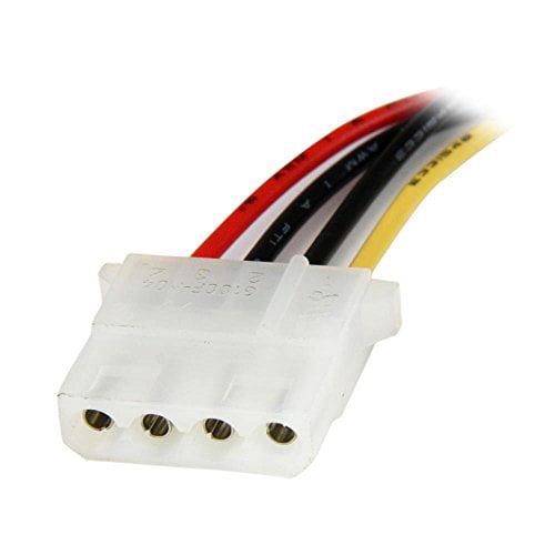 Startech LP4SATAFM12 12-Inch SATA to Molex LP4 Power Cabl...