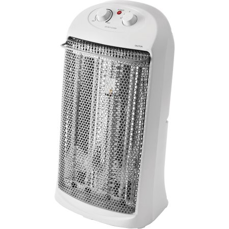 Mainstays Quartz Electric Tower Space Heater, White