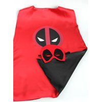 Marvel Comics Costume - Deadpool Logo Cape and Mask with Gift Box by Superheroes