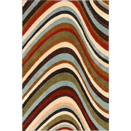 Well Woven Mystic Earth Modern Geometric Waves Natural 5