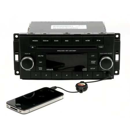 2013-17 Dodge Chrysler Jeep OEM AM FM CD mp3 Player Radio w Aux P05091163AC RES - Refurbished