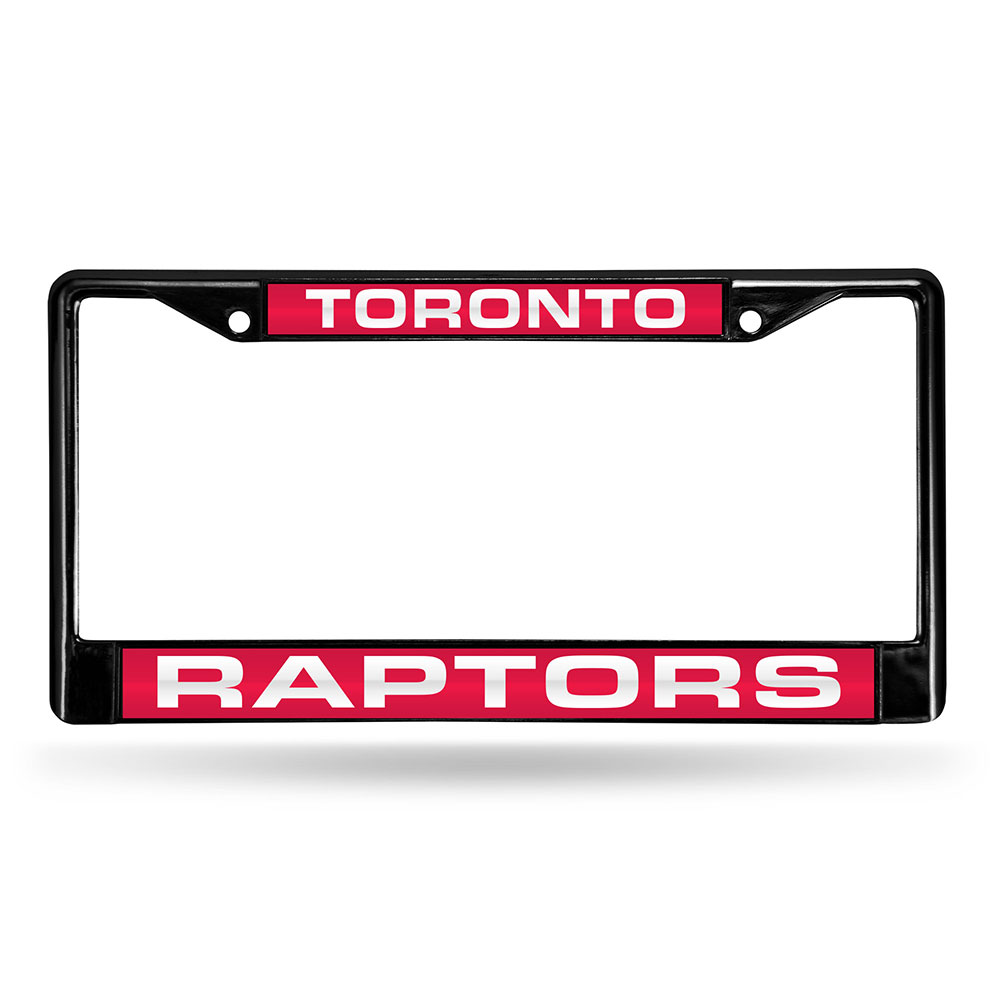 Toronto Raptors NBA Black Chrome Laser Cut License Plate Frame