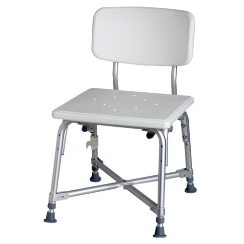 Medline Bariatric Aluminum Bath Chair, 550 lbs Capacity